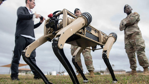 U.S. Air Force Uses Security Robot Dogs for Patrolling
